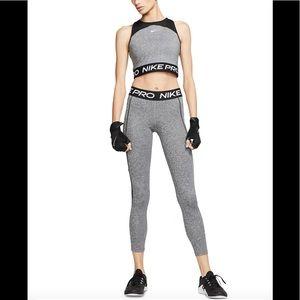 NWT!Nike Pro Dri- Fit mesh trimmer leggings & crop